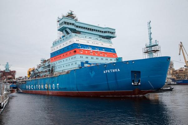 Rosja: Najpotężniejszy lodołamacz z napędem atomowym wyruszył w stronę Arktyki - GospodarkaMorska.pl
