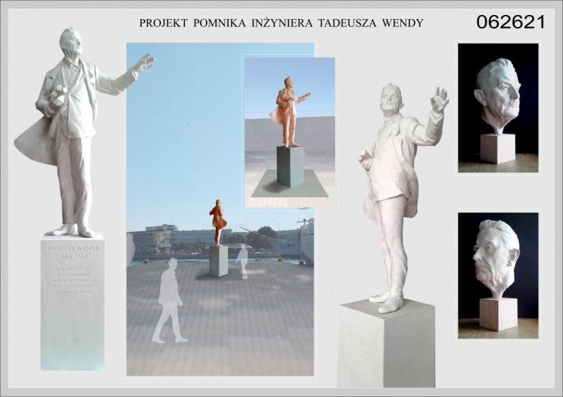 Dwie oferty na budowę pomnika Tadeusza Wendy -  założyciela gdyńskiego portu - GospodarkaMorska.pl