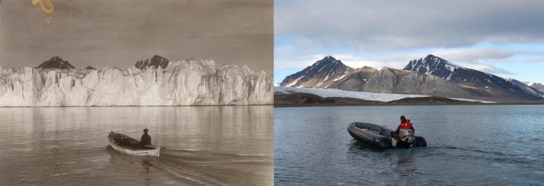 Arktyka się topi. Szokujące zdjęcia pokazują konsekwencje 100 lat zmian klimatycznych (foto) - GospodarkaMorska.pl