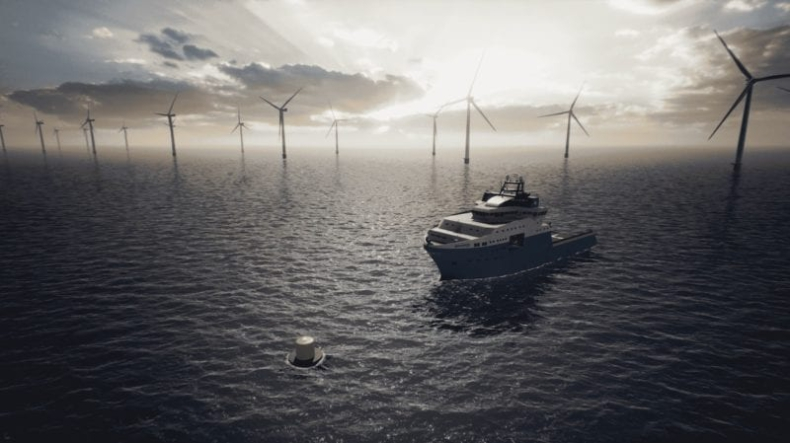 Maersk Supply Service będzie testował prototyp boi ładującej na morskiej farmie wiatrowej (wideo) - GospodarkaMorska.pl