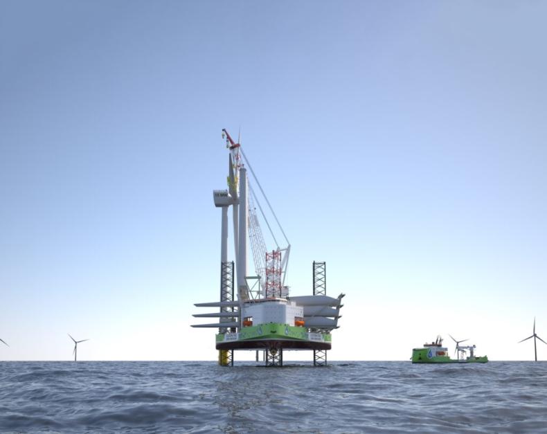 Ulstein zaprojektował hybrydową jednostkę do instalacji turbin wiatrowych napędzaną wodorem - GospodarkaMorska.pl