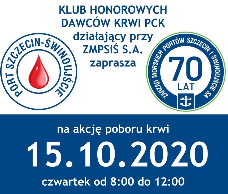 70 litrów krwi na 70-lecie portów w Szczecinie i Świnoujściu - GospodarkaMorska.pl