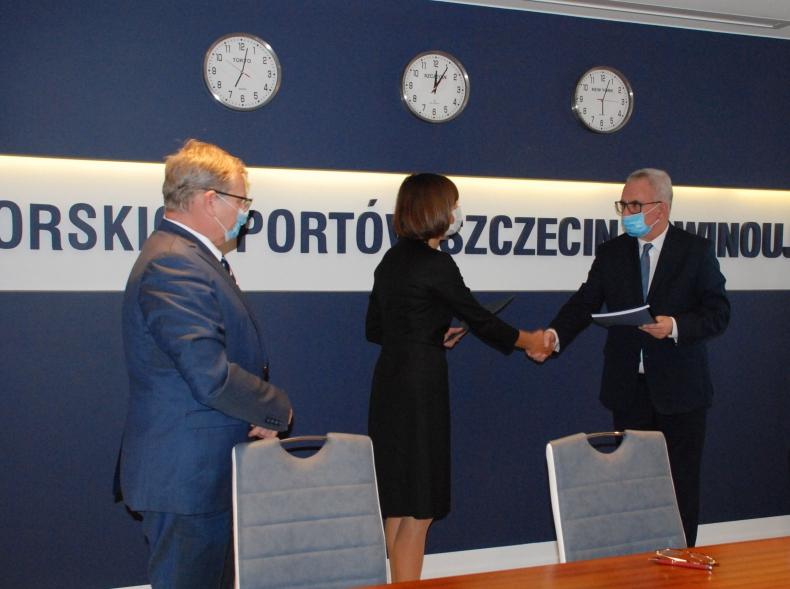 Inwestycja ZMPSiŚ w porcie Szczecin w rejonie Kanału Dębickiego - kontrakt z NDI podpisany - GospodarkaMorska.pl