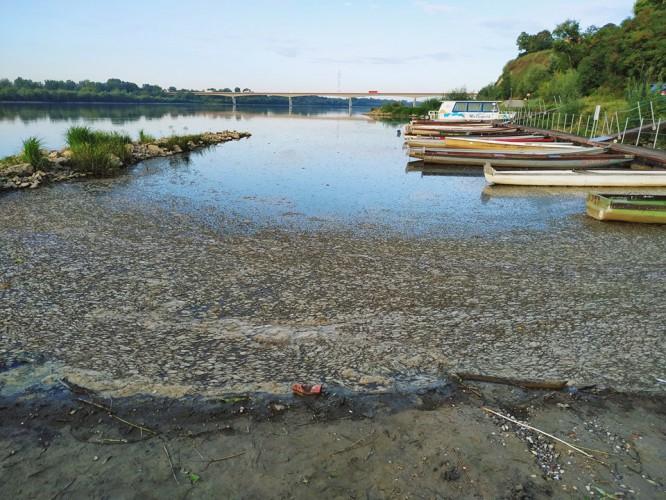 Wojsko zdemontowało most pontonowy - nieczystości leją się do Wisły - GospodarkaMorska.pl
