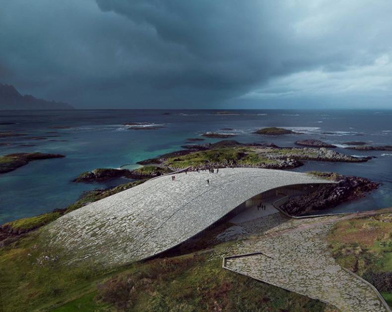 W Norwegii powstanie obserwatorium wielorybów. Zobacz niezwykły projekt (foto) - GospodarkaMorska.pl