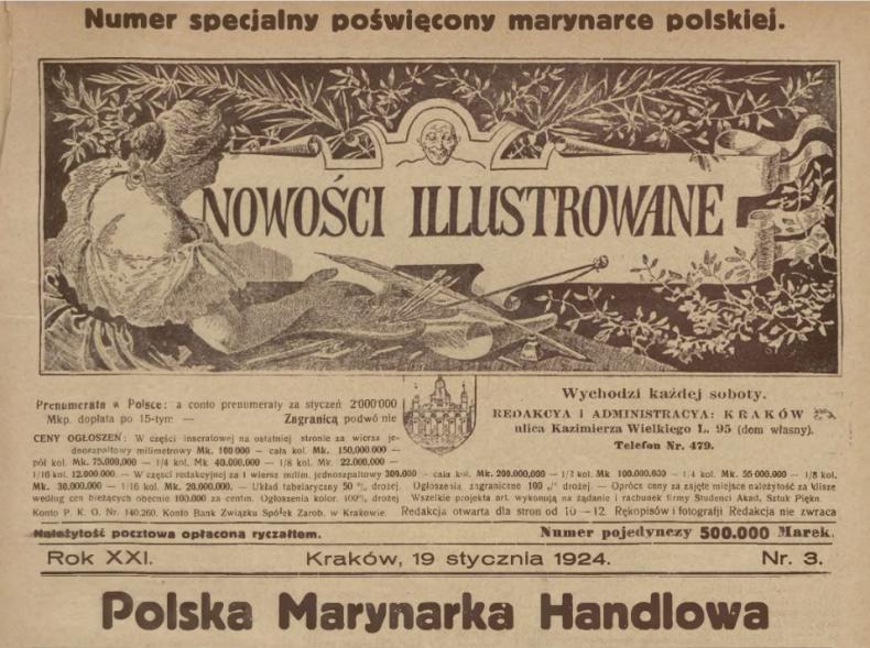 Polska Marynarka Handlowa - o polskiej flocie handlowej w artykule sprzed 100 lat! - GospodarkaMorska.pl
