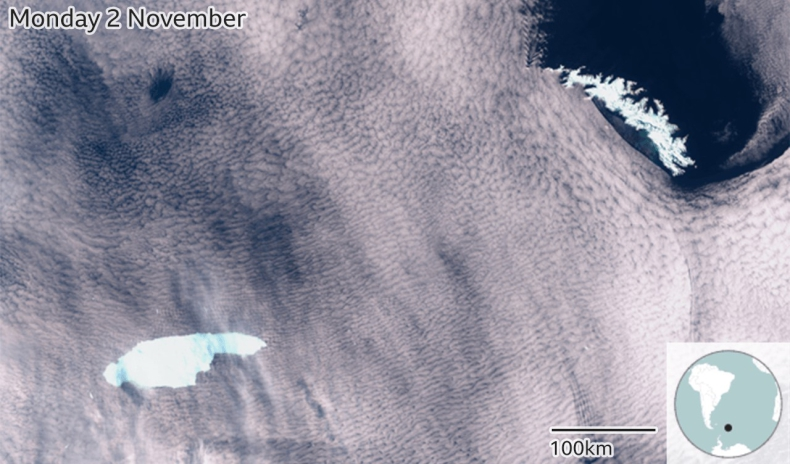 Gigantyczna góra lodowa nieuchronnie zbliża się do brytyjskiej wyspy - GospodarkaMorska.pl