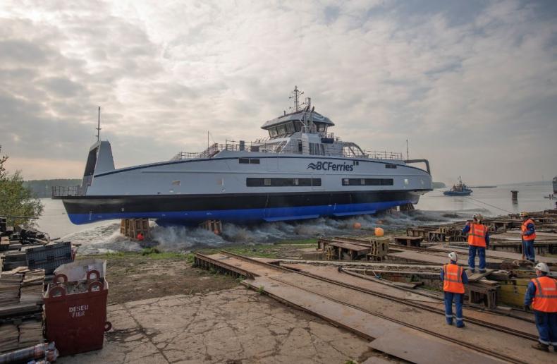 Damen zwodował trzeci hybrydowo-elektryczny statek dla BC Ferries - GospodarkaMorska.pl