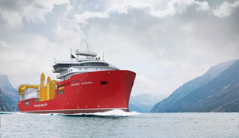 W Norwegii zwodowano jednostkę Nexans Aurora. Jej kadłub powstał w Polsce - GospodarkaMorska.pl