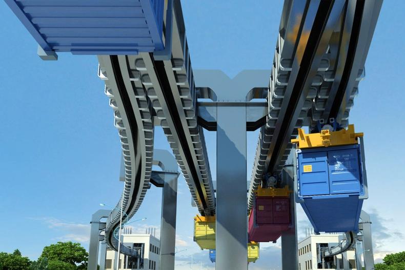 Port Qingdao buduje pierwszy na świecie inteligentny system transportu powietrznego - GospodarkaMorska.pl