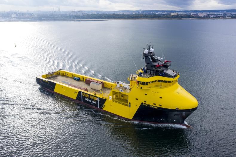 Drugi etap prób morskich wielozadaniowego statku typu PSV Coey Viking - GospodarkaMorska.pl
