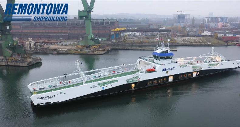 Remontowa Shipbuilding SA przekazała trzeci prom hybrydowy dla Norled [wideo] - GospodarkaMorska.pl