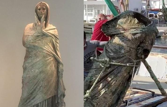 Wielki antyczny posąg ze spiżu wyłowiony przez rybaków - GospodarkaMorska.pl