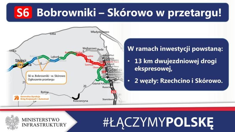 Przetarg na kolejny odcinek drogi ekspresowej S6 - GospodarkaMorska.pl