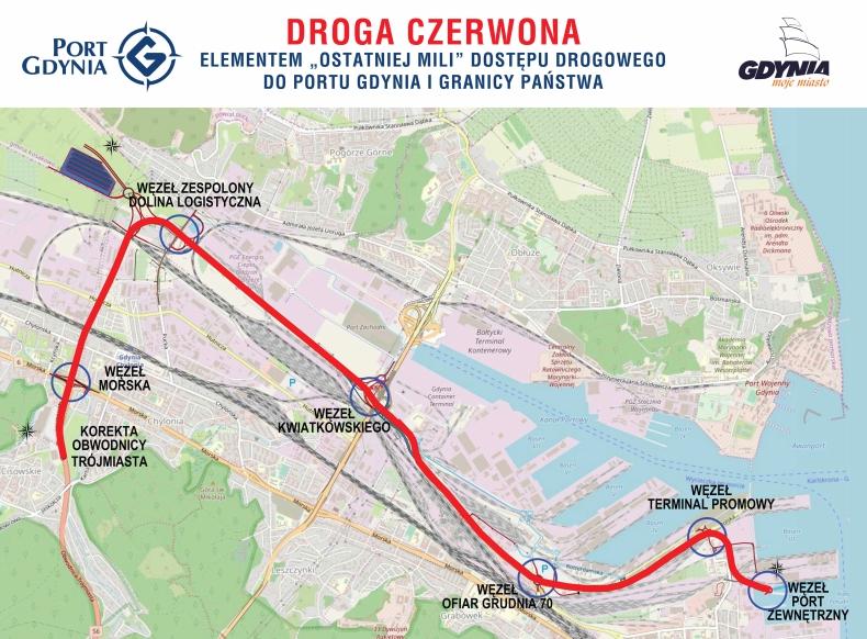 Wiemy, którędy przebiegnie Droga Czerwona w Gdyni (foto, wideo) - GospodarkaMorska.pl