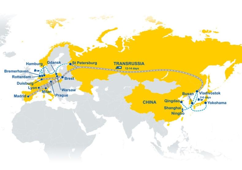 TRANSRUSSIA – nowe połącznie kolejowe GEFCO z Azji do Europy w 30 dni  - GospodarkaMorska.pl
