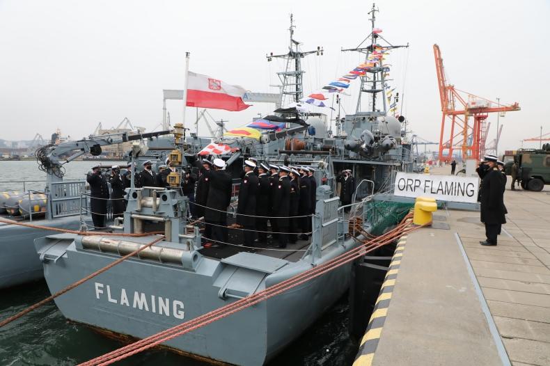 ORP Flaming kończy służbę w Marynarce Wojennej  - GospodarkaMorska.pl
