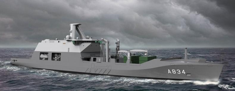 Damen rozpoczął budowę okrętu wsparcia bojowego Den Helder - GospodarkaMorska.pl
