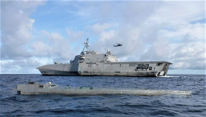Amerykański okręt zatrzymał statek przemycający kokainę wartą ponad 100 milionów dolarów - GospodarkaMorska.pl