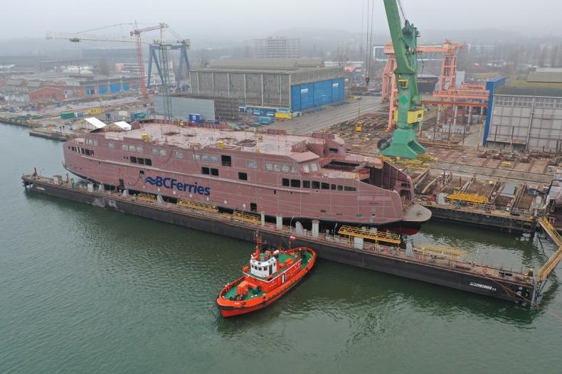 Czwarty prom dla BC Ferries zwodowany w Remontowa Shipbuilding - GospodarkaMorska.pl