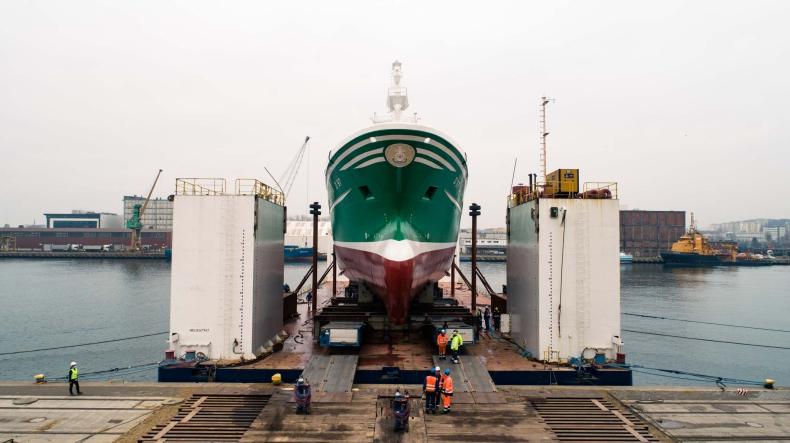 Stocznia Karstensen zwodowała statek rybacki dla Irlandczyków [foto, wideo] - GospodarkaMorska.pl