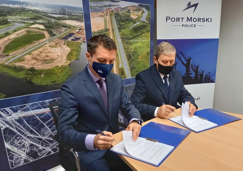 Coraz bliżej budowy stacji kolejowej Port Police - GospodarkaMorska.pl