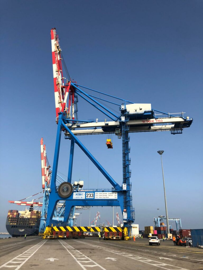 Port Aszdod zamawia suwnice STS - GospodarkaMorska.pl