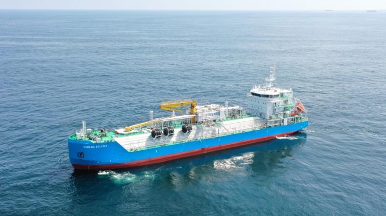 Singapur pozyskał pierwszą w swojej historii bunkierkę LNG - GospodarkaMorska.pl