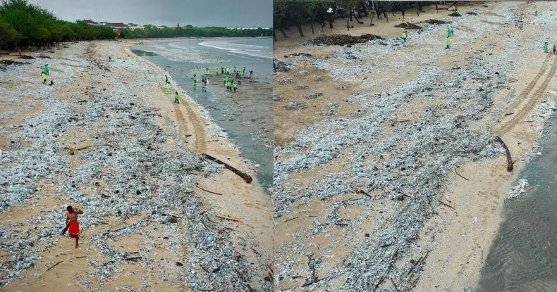 Plaże Bali zasypane śmieciami - GospodarkaMorska.pl