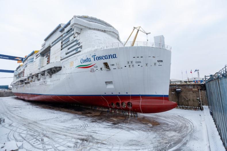 Kolejny wycieczkowiec Costa Cruises zwodowany w Finlandii - GospodarkaMorska.pl
