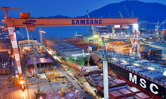Samsung Heavy Industries zdobył zamówienie na duet kontenerowców - GospodarkaMorska.pl