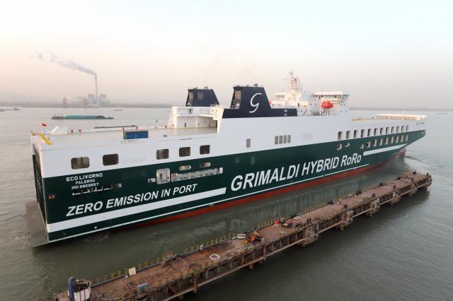 Grimaldi z trzecim hybrydowym statkiem ro-ro w swojej flocie - GospodarkaMorska.pl