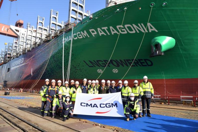 Zwodowano kolejny kontenerowiec CMA CGM zasilany LNG - GospodarkaMorska.pl
