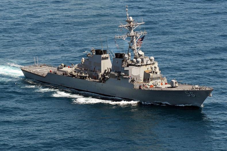 Pierwszy raz za prezydentury Bidena okręt USA przepłynął przez Cieśninę Tajwańską - GospodarkaMorska.pl