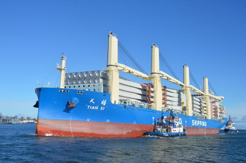 COSCO Shipping – chiński gigant przybywa do gdyńskiego portu z kolejną partią śmigieł - GospodarkaMorska.pl