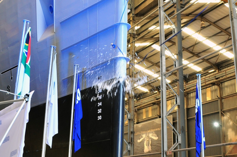 RPA: W Damen Shipyards Cape Town powstał pierwszy wielozadaniowy statek patrolowy (IPV) - GospodarkaMorska.pl