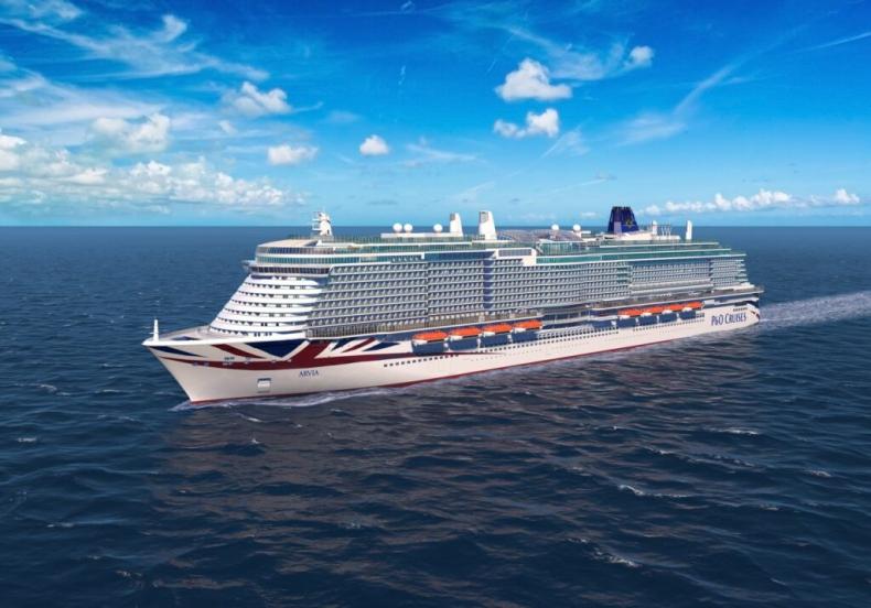 Ochrzczono drugi wycieczkowiec P&O Cruises napędzany LNG  - GospodarkaMorska.pl