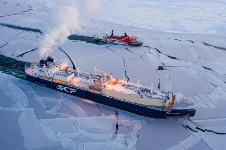 Gazowiec Christophe de Margerie kończy pierwszy lutowy rejs szlakiem arktycznym (wideo) - GospodarkaMorska.pl