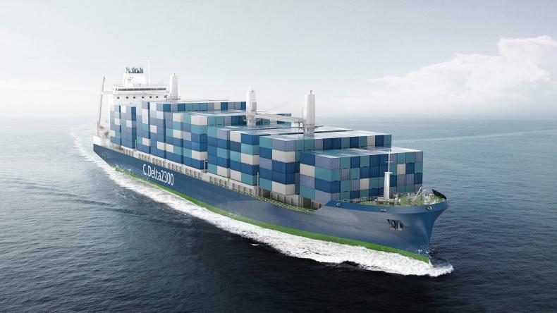 Deltamarin ujawnił nowy projekt kontenerowca zasilanego LNG - GospodarkaMorska.pl