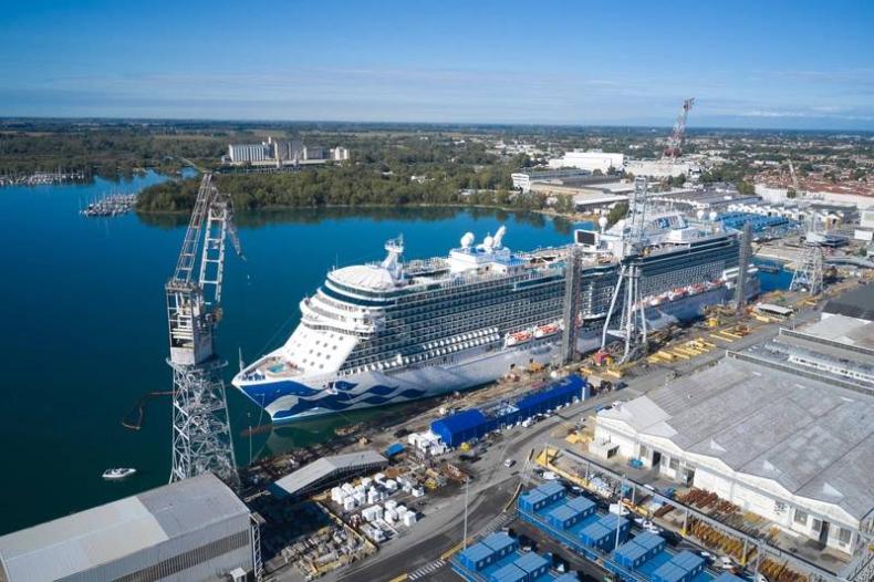 Grupa stoczniowa Fincantieri zanotowała stratę 245 mln euro w 2020 roku - GospodarkaMorska.pl