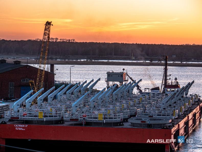 Aarsleff BIZ Sp. z o.o. dostarczył elementy dla farmy wiatrowej Hornsea Two - GospodarkaMorska.pl