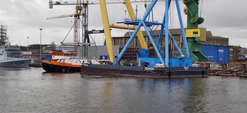 """Lodołamacz """"Tarpan"""" dla RZGW w Szczecinie zwodowany w stoczni Remontowa Shipbuilding [foto, wideo] - GospodarkaMorska.pl"""