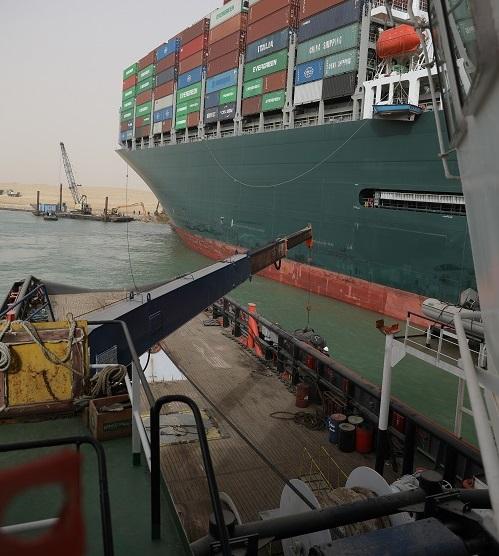 Czy usunięcie 20 000 metrów sześciennych piasku uwolni kontenerowiec w Kanale Sueskim i uratuje globalny łańcuch dostaw? - GospodarkaMorska.pl