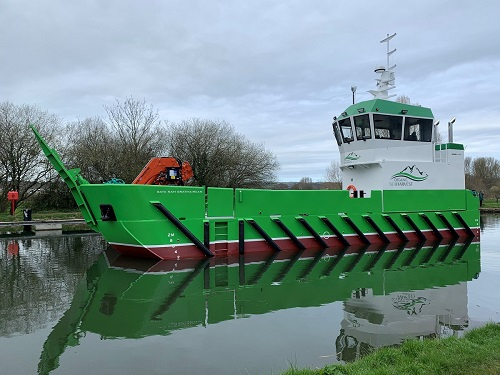 Damen dostarcza nowy statek pomocniczy LUV 1908 dla Organic Sea Harvest - GospodarkaMorska.pl