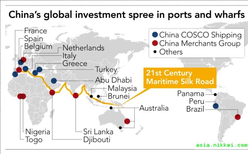 Chiny kupują porty i terminale na Jedwabnym Szlaku - GospodarkaMorska.pl