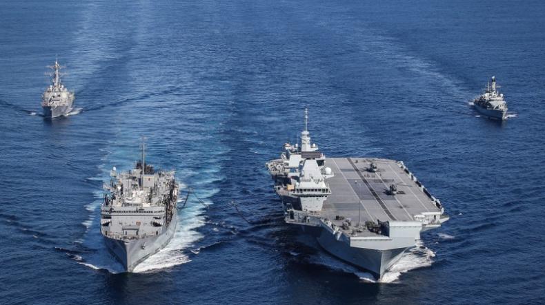 Wielka Brytania: Grupa uderzeniowa lotniskowca HMS Queen Elizabeth zostanie wysłana na Pacyfik - GospodarkaMorska.pl