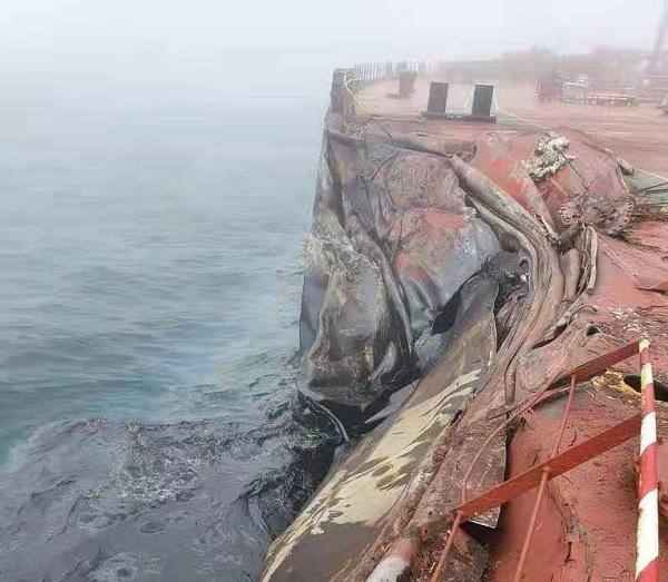 Chiny: Wyciek ropy na Morzu Żółtym po kolizji z udziałem tankowca - GospodarkaMorska.pl