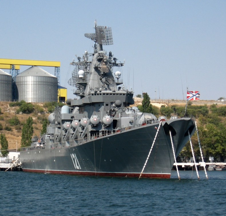 Krążownik Moskwa odpalił na Morzu Czarnym pocisk manewrujący Wulkan - GospodarkaMorska.pl