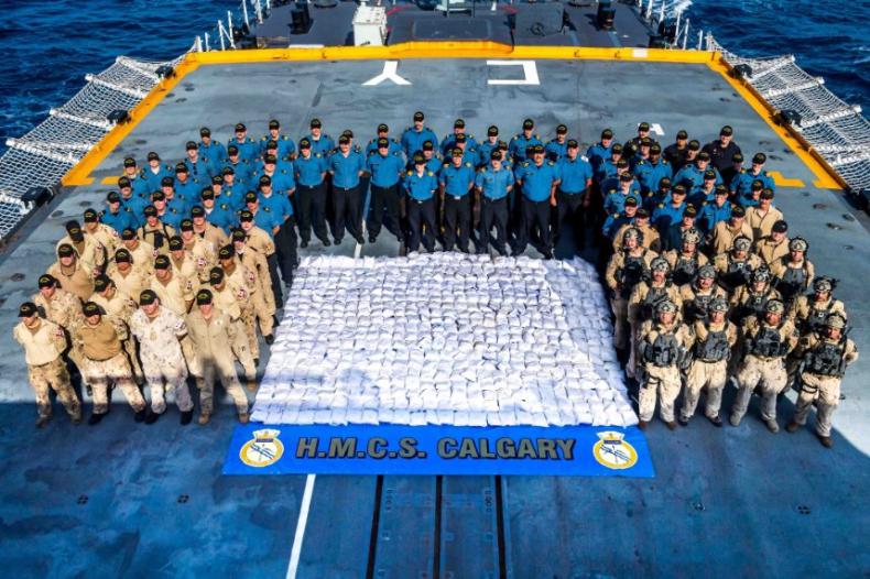 Kanadyjski okręt przechwycił ponad tonę heroiny na wodach Zatoki Perskiej - GospodarkaMorska.pl