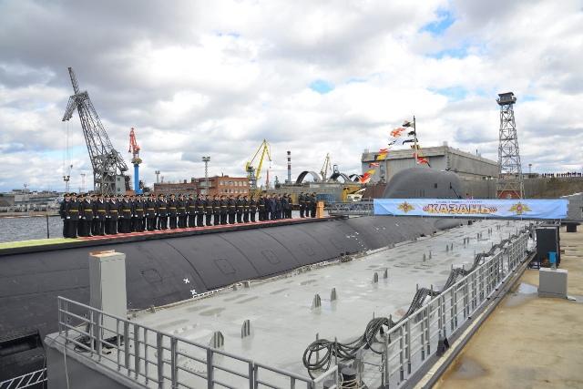 Rosja: Okręt atomowy Kazań projektu Jasień-M wszedł w skład Floty Północnej - GospodarkaMorska.pl